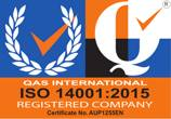ISO 14001:2015 - Environmental Management (Certificate No. AUP1255EN)